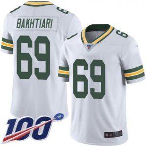 Packers David Bakhtiari 100th Season Jersey